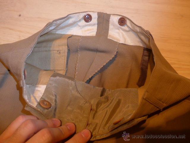 Militaria: Antiguo pantalon breches de pana, original, ejercito republicano, guerra civil. Pantalones - Foto 5 - 54444961