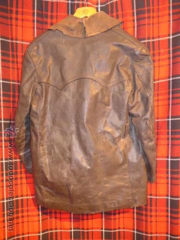 Militaria: Antiguo chaqueta de cuero militar, original guerra civil, zona de Teruel. - Foto 8 - 54445120