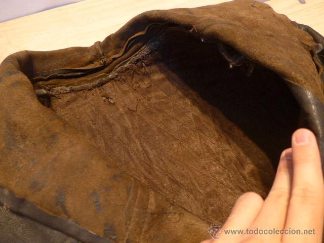 Militaria: Antiguo chaqueta de cuero militar, original guerra civil, zona de Teruel. - Foto 11 - 54445120