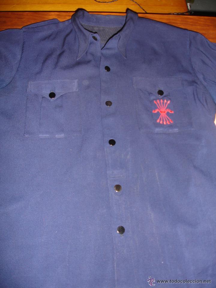 Franco, falange,camisa azul y cinturón - Vendido en