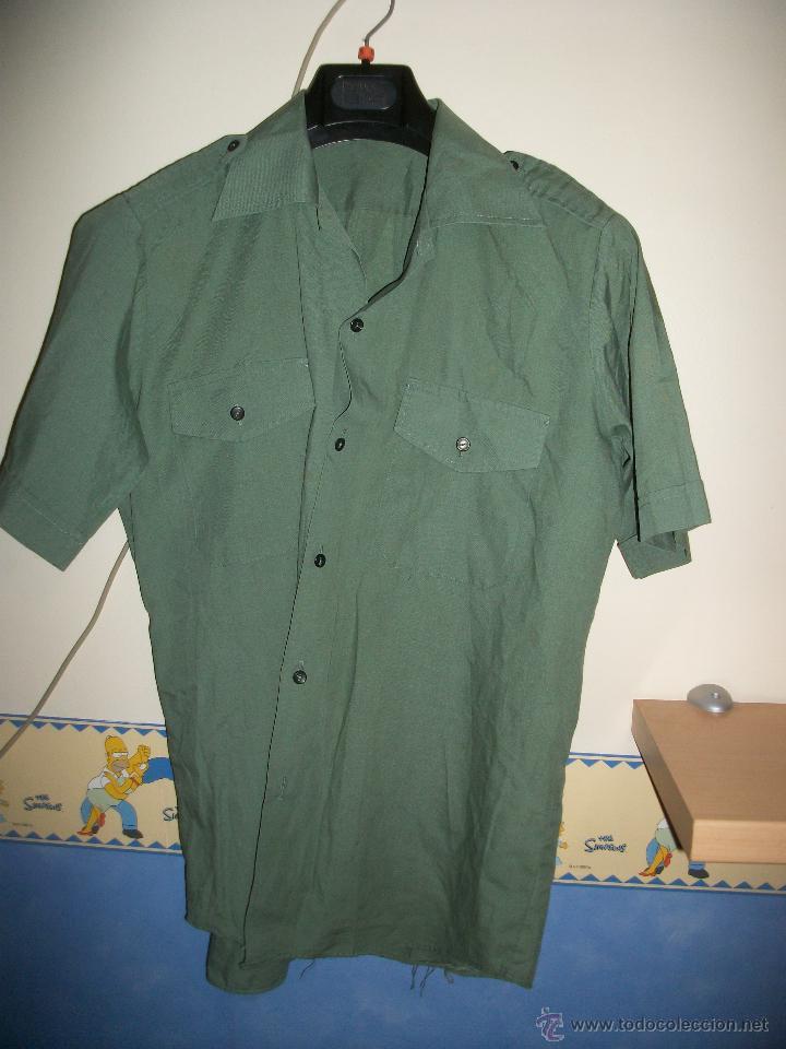 bbf460ce249 Camisa verde manga corta tipo ejercito talla 39 - Vendido en Venta ...