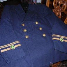 Militaria: UNIFORME COMPLETO (CON GORRA REGL) DE LA MARINA MERCANTE ESPAÑOLA, EN AZUL MARINO. SECCIÓN MÁQUINAS.. Lote 55061565