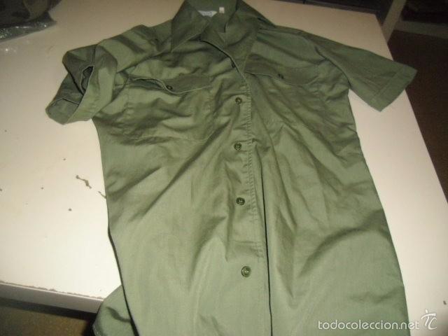 4fda38c628a CAMISA MANGA CORTA VERDE MILITAR TALLA 36 EL DE FOTO (Militar - Uniformes  Españoles )
