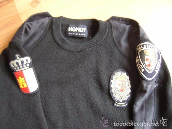Militaria: ANTIGUO JERSEY DE LA POLICIA LOCAL DE VALDEPEÑAS ( CIUDAD REAL) - Foto 2 - 59938119