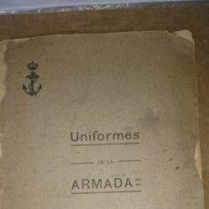 Militaria: LIBRETA UNIFORMIDAD ARMADA 1910 ALFONSO XIII. Lote 60982710