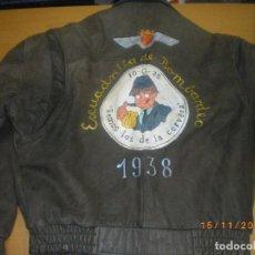 Militaria: CHAQUETA CUERO AVIACION NACIONAL GUERRA CIVIL. Lote 66870914