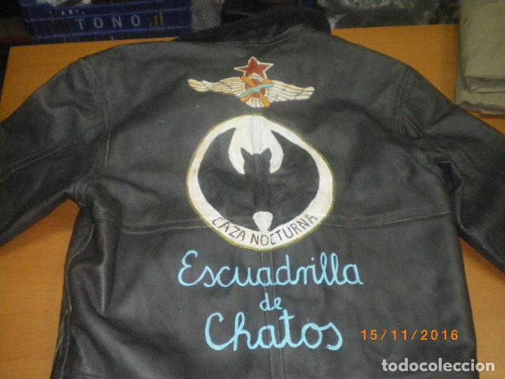 CHAQUETA CUERO AVIACION REPUBLICANA GUERRA CIVIL (Militar - Uniformes Españoles )