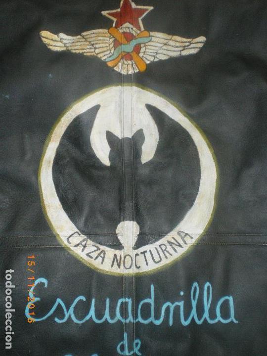 Militaria: CHAQUETA CUERO AVIACION REPUBLICANA GUERRA CIVIL - Foto 3 - 66877538