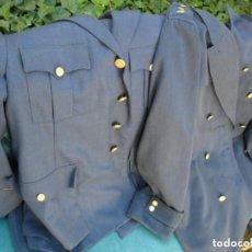 Militaria: UNIFORME DEL EJÉRCITO DEL AIRE CHAQUETA - PANTALÓN Y ABRIGO - AÑOS 70. Lote 67181421