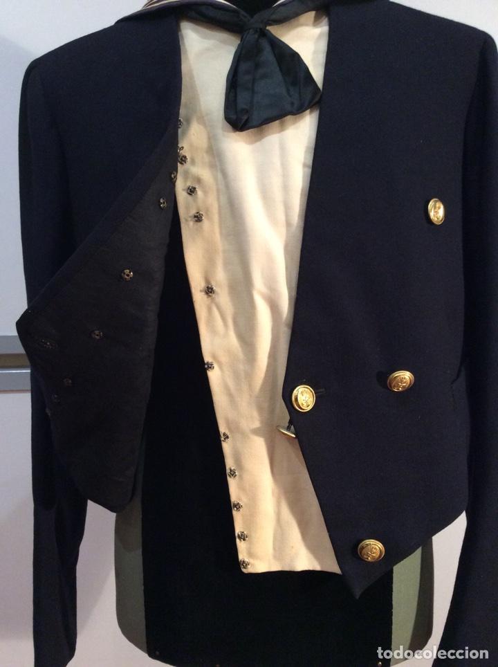 Militaria: Uniforme chaquetilla corta de marinero de la armada, cabo epoc Alf XIII, naval, marina. - Foto 9 - 67754839