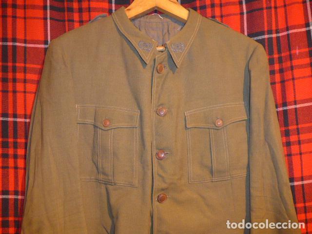 Militaria: Precioso uniforme bordado de capitan republica y guerra civil. Gorra, gorrillo, guerrera, pantalon. - Foto 21 - 70408217