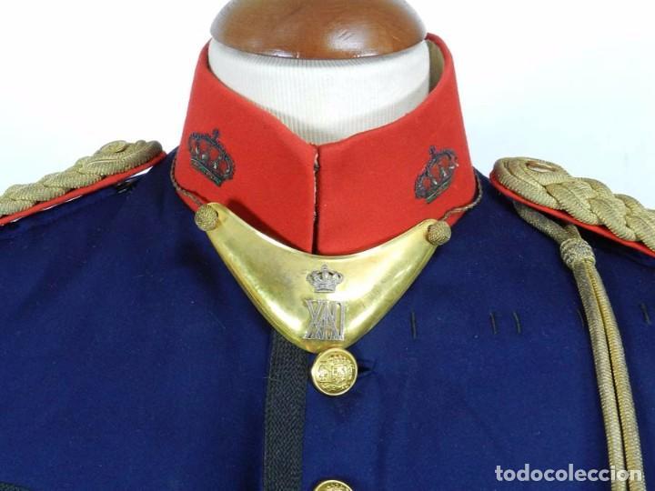 Militaria: ANTIGUA GUERRERA DE GALA DE REGIMIENTO DE INFANTERIA, EPOCA DE ALFONSO XIII, CON SUS HOMBRERAS DE HI - Foto 3 - 73638899