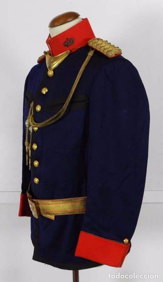 Militaria: ANTIGUA GUERRERA DE GALA DE REGIMIENTO DE INFANTERIA, EPOCA DE ALFONSO XIII, CON SUS HOMBRERAS DE HI - Foto 6 - 73638899