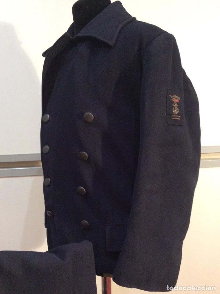 Militaria: Uniforme de marinero de aspirante 2 ENM Marina años 40 Chaquetón y pantalón Armada Guardia marina - Foto 4 - 67757846