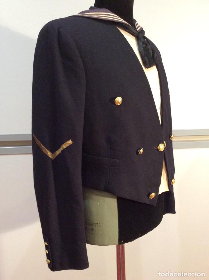 Militaria: Uniforme chaquetilla corta de marinero de la armada, cabo epoc Alf XIII, naval, marina. - Foto 3 - 67754839
