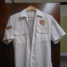 Militaria: CAMISA PATRIOTA COMPLETA DE DEMOCRACIA NACIONAL ,LA CAMISA ES ORIGINAL EJERCITO ESPAÑOL. Lote 100399695