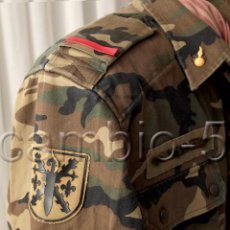 Militaria: GUERRERA MIMETIZADA DE ARTILLERÍA, CON PARCHES, O CAMISOLA MANGA LARGA, UNIFORME BOSCOSO AÑO 1991. Lote 103116639