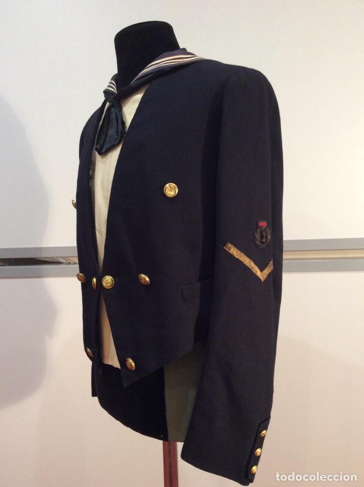 Militaria: Uniforme chaquetilla corta de marinero de la armada, cabo epoc Alf XIII, naval, marina. - Foto 2 - 67754839