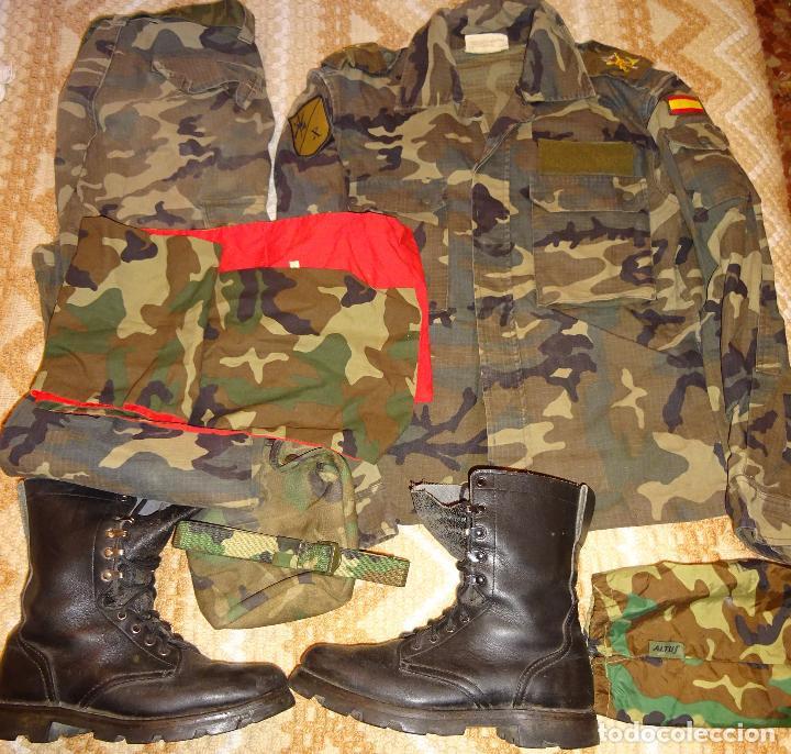UNIFORME MILITAR LEGION CAMUFLAJE. IV TERCIO X BANDERA. CHUPITA PANTALÓN BOTAS PAÑOLETA. 3 KG (Militar - Uniformes Españoles )