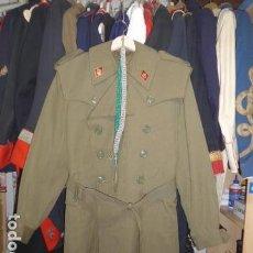 Militaria: * ANTIGUA CHAQUETA GABARDINA MILITAR ESPAÑOLA, DE ALFEREZ DE INFANTERIA FRANQUISTA. ORIGINAL. ZX. Lote 107783055