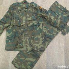 Militaria: UNIFORME DE CAMPAÑA DEL EJERCITO ESPAÑOL MIMETIZADO BOSCOSO , NUEVA SIN USAR . TALLA 48-72. Lote 108060947
