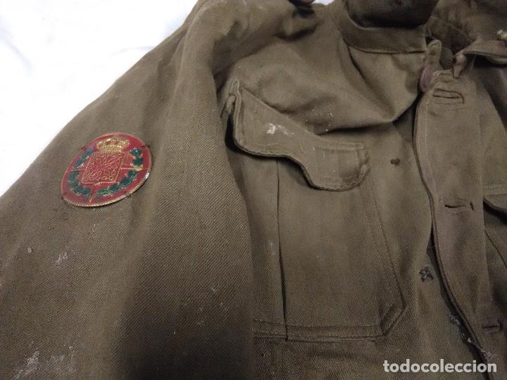 Militaria: Chaqueta guerrera oficial ingenieros reglamento 1926 con chapa escudo brigadas navarras - Foto 4 - 109109975
