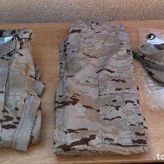 Militaria: UNIFORME DE CAMPAÑA ÁRIDO EJÉRCITO ESPAÑOL CON GORRA TALLA 1C NUEVO AIRSOFT CAZA. Lote 110058635