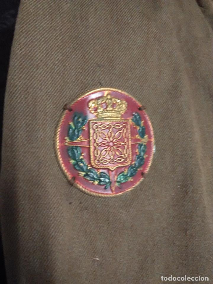 Militaria: Chaqueta guerrera oficial ingenieros reglamento 1926 con chapa escudo brigadas navarras - Foto 5 - 109109975