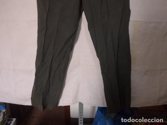 Militaria: Antiguo pantalon recto a identificar, color tipo guardia civil. Original, pantalones. - Foto 3 - 123506815