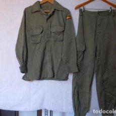 Militaria: ANTIGUO UNIFORME MILITAR ESPAÑOL, GUERRERA Y PANTALON, ORIGINAL.. Lote 124070751