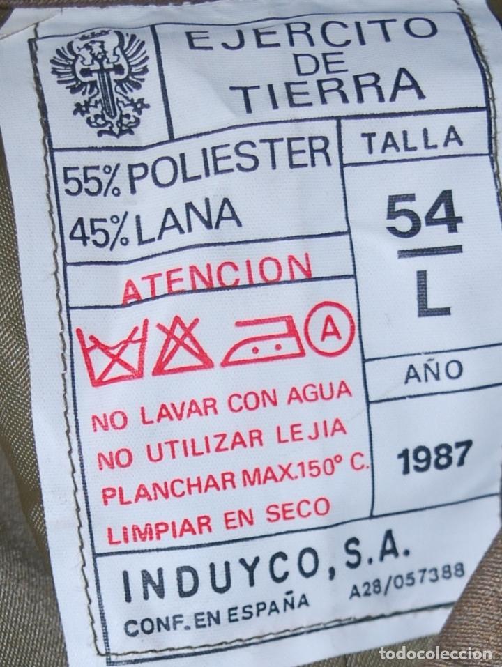 Militaria: EJERCITO ESPAÑOL. ANTIGUO CHAQUETON TRES CUARTOS. PARA OFICIAL Y SUBOFICIAL. IMPECABLE ESTADO - Foto 9 - 128535207