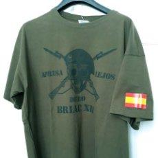 Militaria: CAMISETA BRIAC XII APRISA DURO LEJOS BRIGADA ACORAZADA GUADARRAMA EJÉRCITO ESPAÑOL TALLA XXL. Lote 130787564