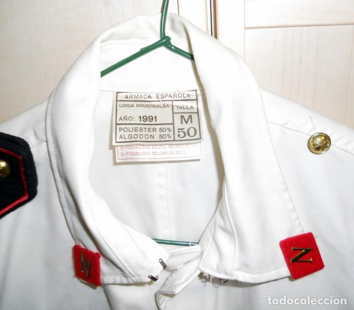 Militaria: CHAQUETA GUERRERA INFANTERIA MARINA ARMADA ESPAÑOLA TRAJE GALA ALUMNO TERCIO NORTE MILITAR Año 1991 - Foto 2 - 153801458