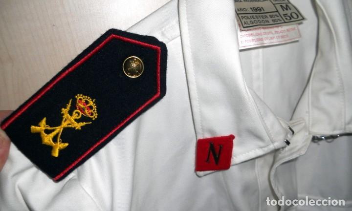 Militaria: CHAQUETA GUERRERA INFANTERIA MARINA ARMADA ESPAÑOLA TRAJE GALA ALUMNO TERCIO NORTE MILITAR Año 1991 - Foto 3 - 153801458