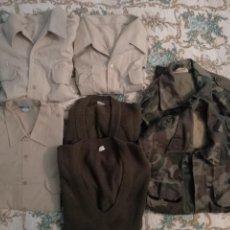 Militaria: ROPA MILITAR LOTE DE 7 PRENDAS. Lote 140421506