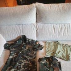 Militaria: LOTE CAMISAS Y CAMISETAS DE FAENA EJERCITO DE TIERRA. Lote 142437618