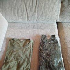 Militaria: LOTE CAMISA CAMPAÑA NUEVA Y CAMISA DE FAENA EJERCITO DEL AIRE. Lote 142441618