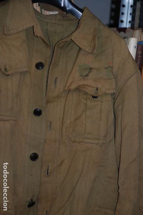 Militaria: GUERRERA DE MANDO - GUERRA CIVIL ESPAÑOLA - GRAN DESGASTE - RESTOS DEL BORDADO DE GALLETA - - Foto 2 - 148009874