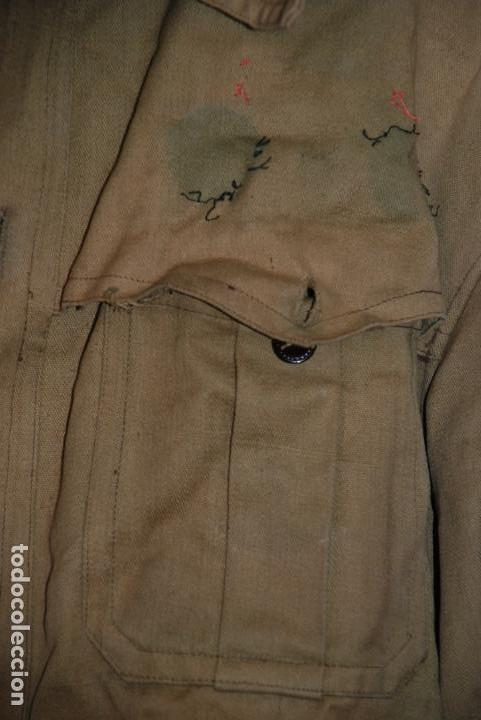 Militaria: GUERRERA DE MANDO - GUERRA CIVIL ESPAÑOLA - GRAN DESGASTE - RESTOS DEL BORDADO DE GALLETA - - Foto 3 - 148009874