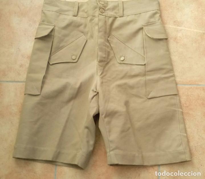 Militaria: Pantalón corto nomadeo ATN, Tropas Nómadas, Sáhara, talla XL, muy buen estado. Algodón. - Foto 2 - 152962238