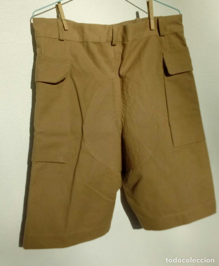 Militaria: Pantalón corto nomadeo ATN, Tropas Nómadas, Sáhara, talla XL, muy buen estado. Algodón. - Foto 3 - 152962238