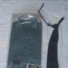 Militaria - Camisa y corbata del uniforme de Telégrafos - Correos Años 60 - Sin estrenar - 154021538