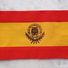 Militaria: BRAZALETE CON COLORES DE LA BANDERA NACIONAL CON FECHA 18 DE JULIO. Lote 155938362