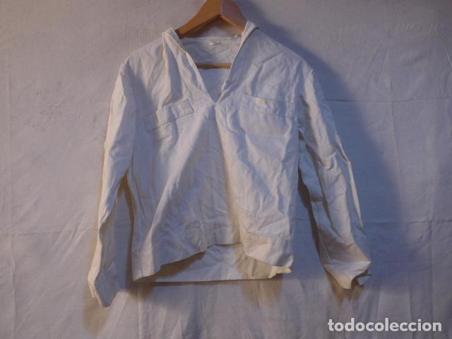 Militaria: Antiguo uniforme de marina armada española, original. Camisa y guerrera. - Foto 2 - 158613518