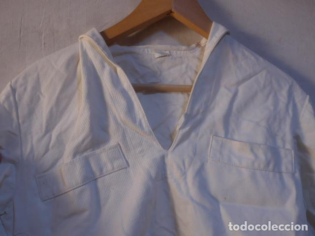 Militaria: Antiguo uniforme de marina armada española, original. Camisa y guerrera. - Foto 3 - 158613518