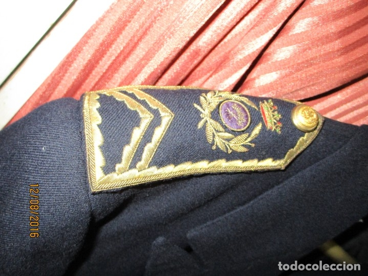 Militaria: UNIFORME MILITAR INGENIEROS DE CAMINOS CHAQUETA Y CHALECO - Foto 3 - 158782054