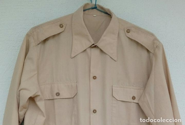 Militaria: Camisa de paseo ATN, color rosa arena, Sáhara, Tropas Nómadas. - Foto 2 - 160366410