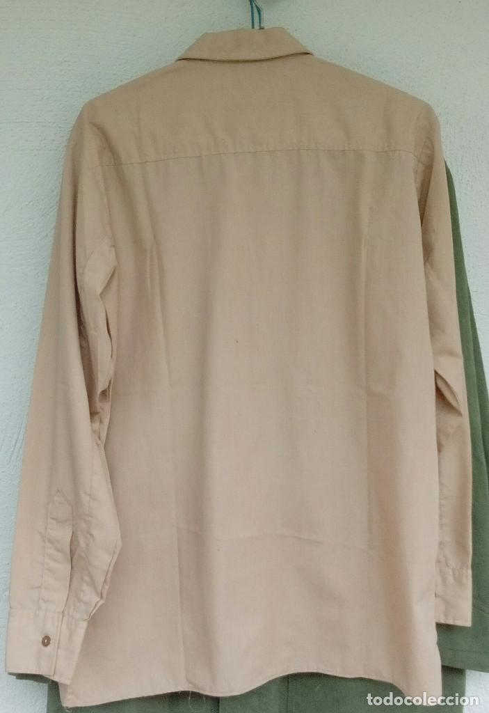Militaria: Camisa de paseo ATN, color rosa arena, Sáhara, Tropas Nómadas. - Foto 3 - 160366410