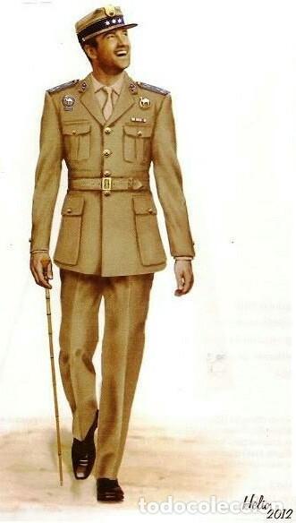 Militaria: Camisa de paseo ATN, color rosa arena, Sáhara, Tropas Nómadas. - Foto 5 - 160366410