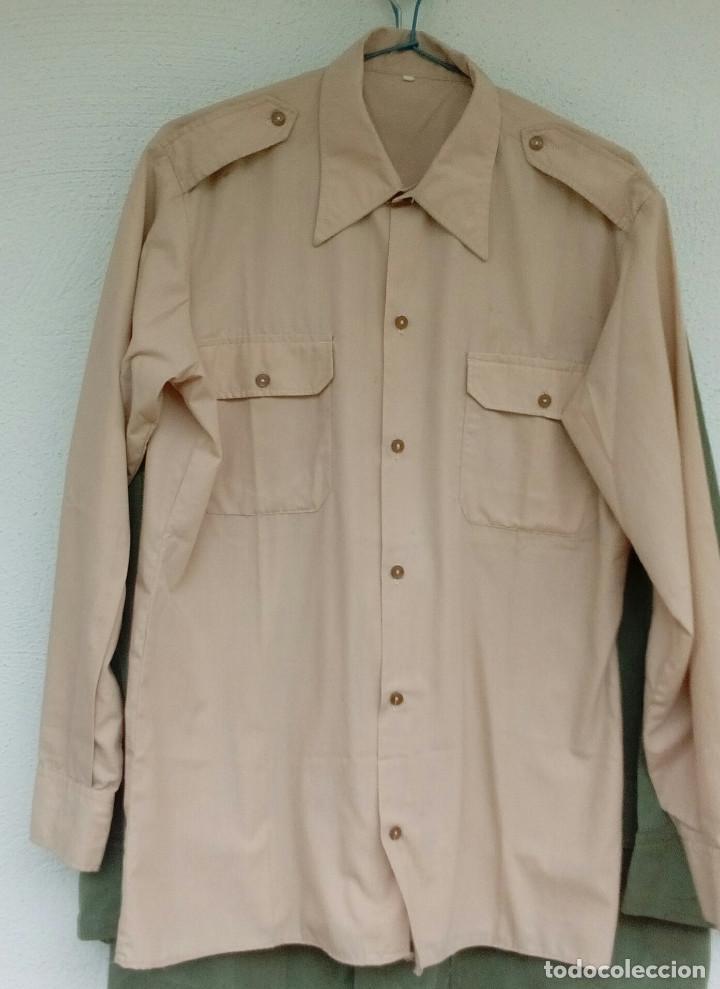 Militaria: Camisa de paseo ATN, color rosa arena, Sáhara, Tropas Nómadas. - Foto 7 - 160366410